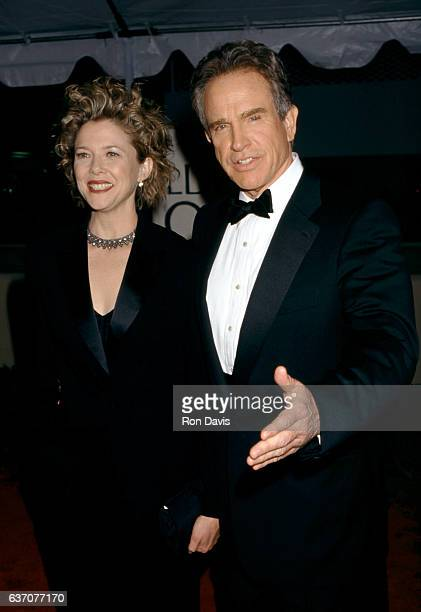 Actress Annette Bening and husband actor Warren Beatty during The 56th Annual Golden Globe Awards Red Carpet on January 24 1999 at the Beverly Hilton...
