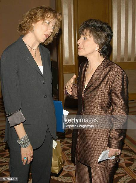 Actress Annette Bening and Senator Barbara Boxer attend Senator Barbara Boxer's Women Making History Honors Annette Bening at the St Regis Hotel on...