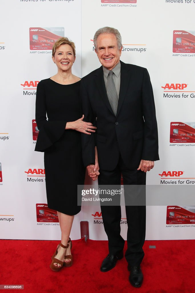 Actress Annette Bening and Warren Beatty attend the AARP's 16th Annual Movies for Grownups Awards at the Beverly Wilshire Four Seasons Hotel on February 6, 2017 in Beverly Hills, California.