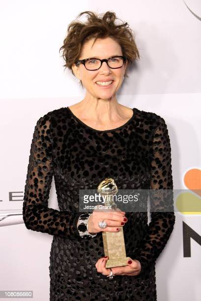 Actress Annette Bening arrives at NBC Universal's 68th Annual Golden Globes After Party held at The Beverly Hilton hotel on January 16 2011 in...