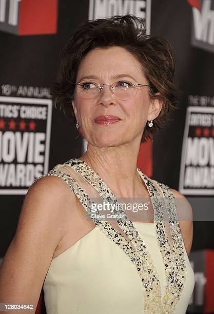 Actress Annette Bening arrives at the 16th Annual Critics' Choice Movie Awards at the Hollywood Palladium on January 14 2011 in Los Angeles California