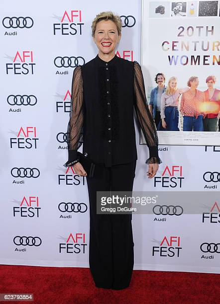 Actress Annette Bening arrives at the AFI FEST 2016 Presented By Audi A Tribute To Annette Bening And Gala Screening Of A24's '20th Century Women' at...