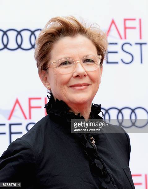 Actress Annette Bening arrives at the AFI FEST 2017 Presented By Audi screening of Film Stars Don't Die In Liverpool at the TCL Chinese Theatre on...