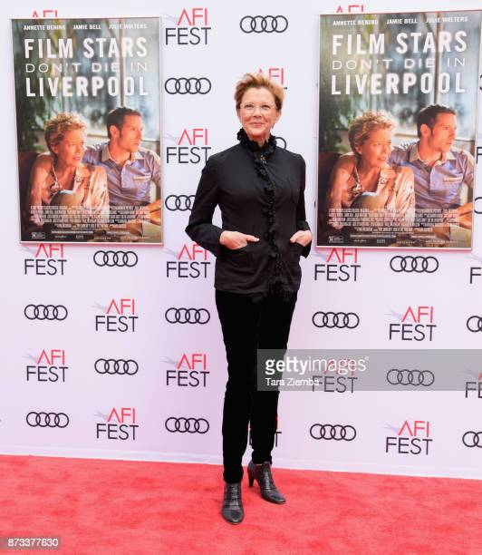Actress Annette Bening arrives at the AFI FEST 2017 Presented By Audi screening of 'Film Stars Don't Die In Liverpool' at TCL Chinese Theatre on...