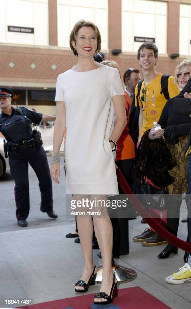 Actress Annette Bening arrives at 'The Face Of Love' Premiere during the 2013 Toronto International Film Festival at The Elgin on September 12 2013...