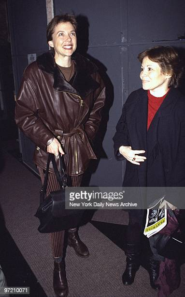 Actress Annette Bening attending the play 'Mrs Klein' at the Lucille Lortel Theater