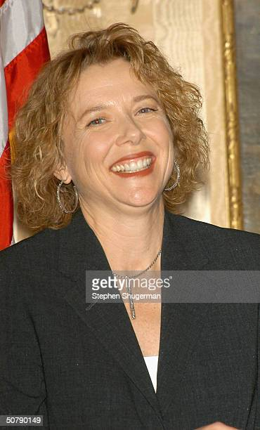 Actress Annette Bening attends at Senator Barbara Boxer's Women Making History Honors Annette Bening at the St Regis Hotel on April 30 2004 in...