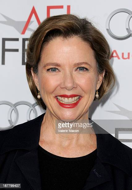 Actress Annette Bening attends 'Conversation With Annette Bening' during AFI FEST 2013 presented by Audi at the Egyptian Theatre on November 12 2013...