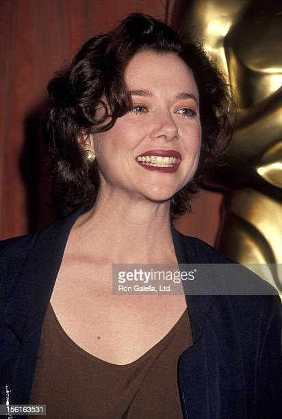 Actress Annette Bening attends the 63rd Annual Academy Awards Nominees Luncheon on March 19 1991 at Beverly Hilton Hotel in Beverly Hills California