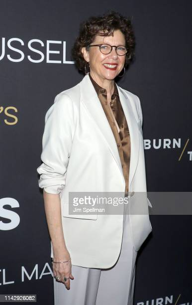 Actress Annette Bening attends the Burn This opening night at Hudson Theatre on April 15 2019 in New York City
