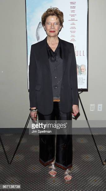 Actress Annette Bening attends the New York screening of The Seagull at Elinor Bunin Munroe Film Center on May 10 2018 in New York City