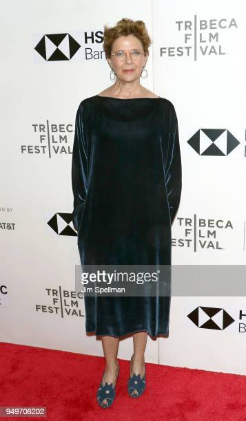 Actress Annette Bening attends the premiere of The Seagull during the 2018 Tribeca Film Festival at BMCC Tribeca PAC on April 21 2018 in New York City
