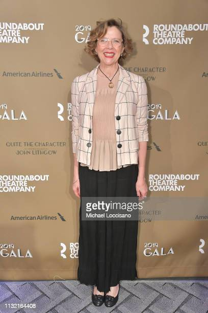 Actress Annette Bening attends the Roundabout Theatre Company 2019 Gala at The Ziegfeld Ballroom on February 25 2019 in New York City