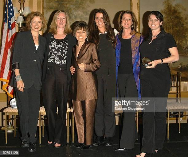 Actress Annette Bening HBO Vice President Keri Putman Senator Barbara Boxer Director Katja von Garnier Producer Paula Weinstein and Actress Julia...