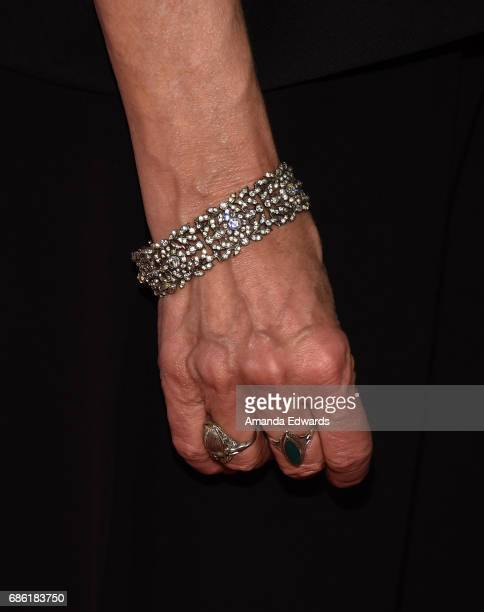 Actress Annette Bening jewelry detail attends the Center Theatre Group's 50th Anniversary Celebration at the Ahmanson Theatre on May 20 2017 in Los...