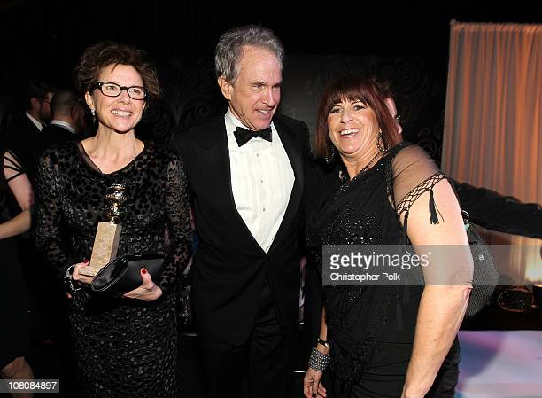 Actress Annette Bening winner of Best Performance by an Actress in a Motion Picture for The Kids Are All Right actor/producer Warren Beatty and guest...