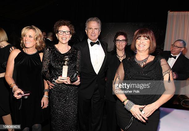 Actress Annette Bening winner of Best Performance by an Actress in a Motion Picture for The Kids Are All Right and actor/producer Warren Beatty...