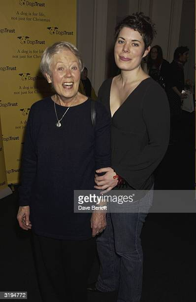 Actress Annette Crosbie and her daughter Selina attend the 'Dog Trust' celebrity party held at the Royal Academy in London on the 22nd January 2004