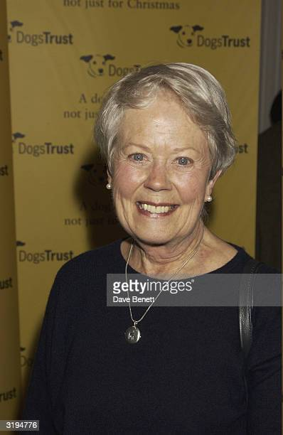 Actress Annette Crosbie attends the 'Dog Trust' celebrity party held at the Royal Academy in London on the 22nd January 2004
