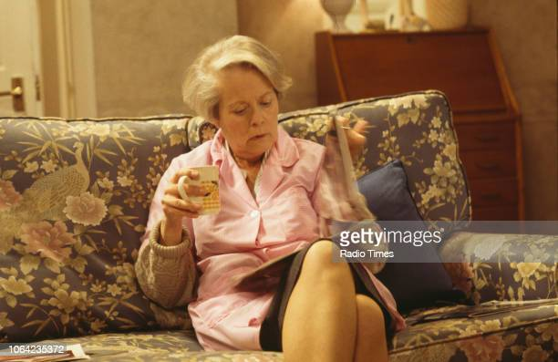 Actress Annette Crosbie in a scene from episode 'The Man Who Blew Away' of the BBC Television sitcom 'One Foot in the Grave' October 9th 1994