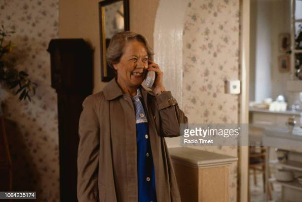 Actress Annette Crosbie in a scene from episode 'Warm Champagne' of the BBC Television sitcom 'One Foot in the Grave' January 10th 1993