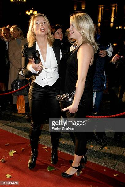 Actress Annette Frier and sister actress Caroline Frier attend the 'Hesse Movie Award 2009' at the Alte Oper on October 16 2009 in Frankfurt am Main...