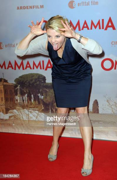 Actress Annette Frier attends the 'Omamamia' Germany Premiere at the Mathaeser Filmpalast on October 17 2012 in Munich Germany