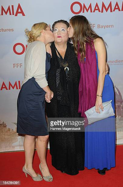 Actress Annette Frier, Marianne Saegebrecht and Miriam Stein attend the 'Omamamia' Germany Premiere at the Mathaeser Filmpalast on October 17, 2012...
