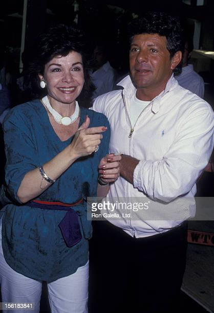 Actress Annette Funicello and Frankie Avalon attend the press conference for 'Back To The Beach' on July 28 1987 at the World Trade Center in New...