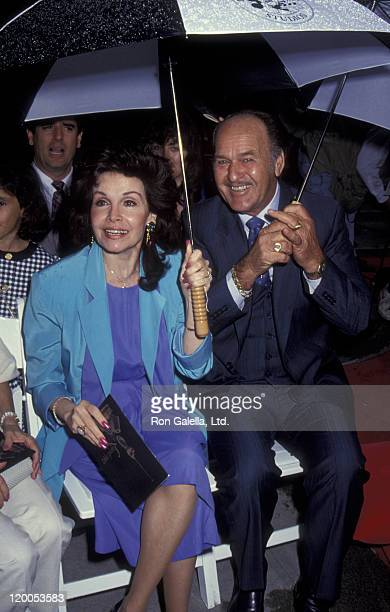 Actress Annette Funicello and Glen Holt attend Disney Legends Awards Gala on October 21 1992 at Disney Studios in Burbank California