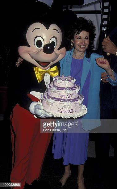 Actress Annette Funicello attends Disney Legends Awards Gala on October 21 1992 at Disney Studios in Burbank California