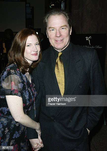 Actress Annette O'Toole and Actor Michael McKean at The Global Vision for Peace launch of Artists for the United Nations on February 26, 2004 in Los...