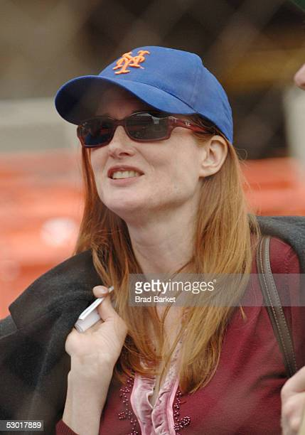Actress Annette O'Toole attends batting practice for Project A.L.S. At Shea Stadium on June 3, 2005 in the Flushing neighborhood of Queens, New York...
