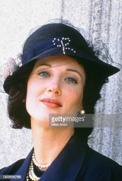 Actress Annette O'Toole plays Rose Fitzgerald Kennedy during the filming of the TV mini-series 'The Fitzgeralds And The Kennedys' also known as 'The...