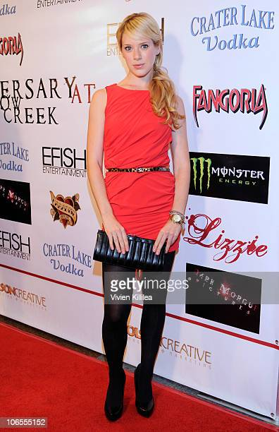Actress Annie Burgstede attends 'The Anniversary At Shallow Creek' Private VIP Screening at DGA Theater on November 4 2010 in Los Angeles California