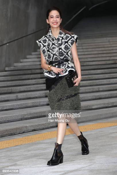 Actress Annie Chen attends the photocall for Volez Voguez Voyagez Louis Vuitton Exhibition at DDP on June 7 2017 in Seoul South Korea