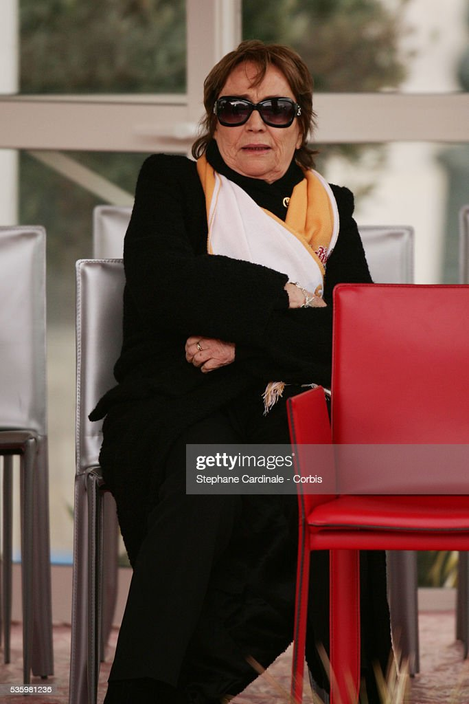 Actress Annie Girardot at the 30th international circus Festival of Monte Carlo.