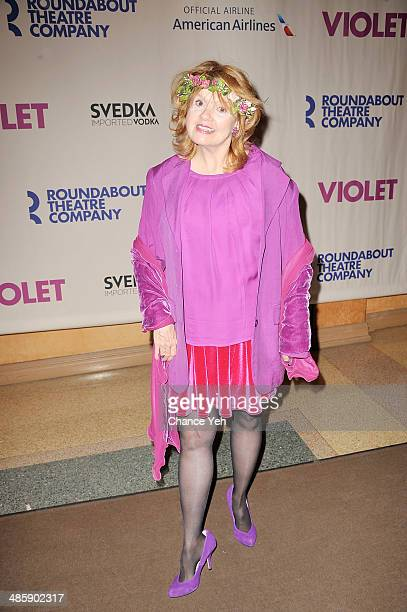 Actress Annie Golden attends the 'Violet' Opening Night at American Airlines Theatre on April 20 2014 in New York City