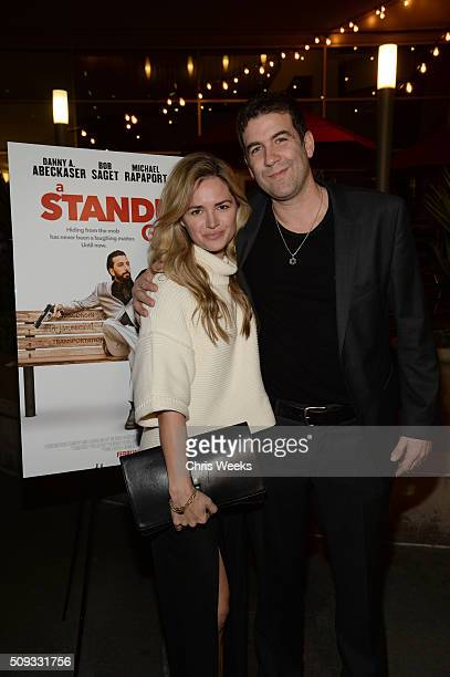 Actress Annie Heise and director Mike Young attend the premiere for The Orchard's 'A Stand Up Guy' on February 9 2016 in Los Angeles California