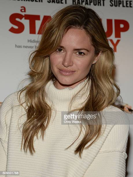 Actress Annie Heise attends the premiere for The Orchard's 'A Stand Up Guy' on February 9 2016 in Los Angeles California