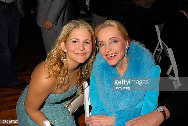 LOS ANGELES CA JANUARY 11 Actress Annie Hendy and actress Anne Jeffreys attend Venice Magazine's after party for The Catholic Girl's Guide to Losing...