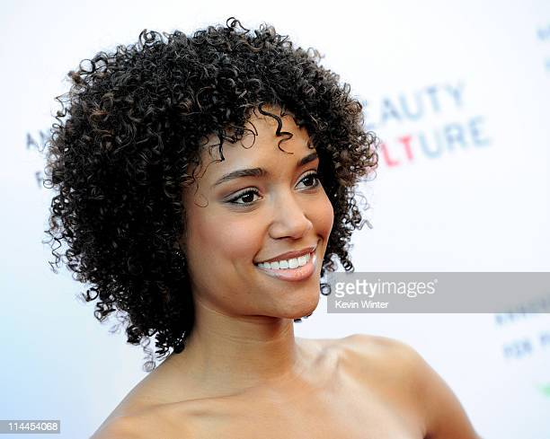 Actress Annie Ilonzeh arrives at the opening night of 'Beauty Culture' at the Annenberg Space for Photography on May 19 2011 in Los Angeles California