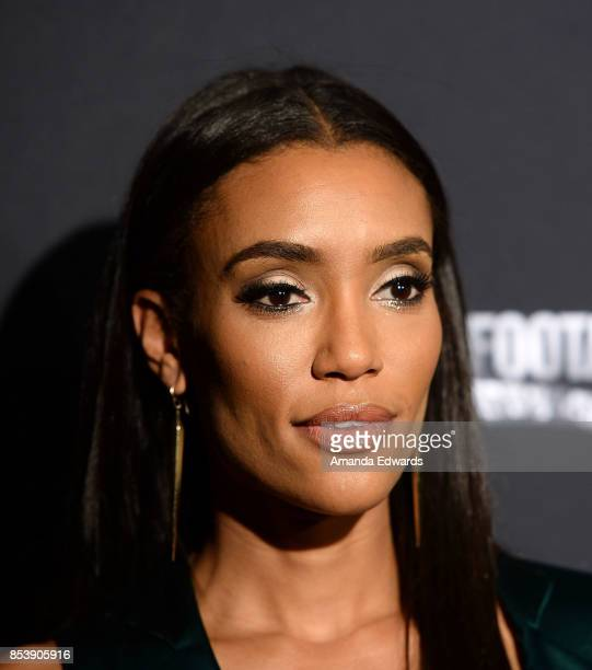 Actress Annie Ilonzeh arrives at the premiere of Novus Content's 'Til Death Do Us Part' at The Grove on September 25 2017 in Los Angeles California