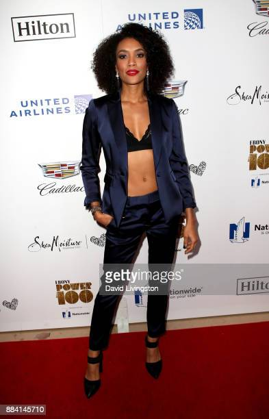 Actress Annie Ilonzeh attends Ebony Magazine's Ebony's Power 100 Gala at The Beverly Hilton Hotel on December 1 2017 in Beverly Hills California