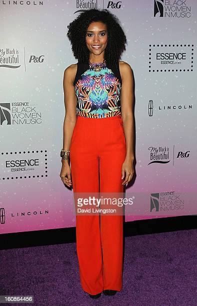 Actress Annie Ilonzeh attends the 4th Annual ESSENCE Black Women In Music honoring Lianne La Havas and Solange Knowles at Greystone Manor Supperclub...