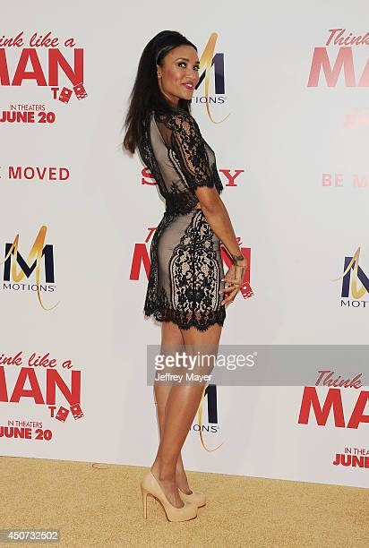 Actress Annie Ilonzeh attends the Los Angeles Premiere of 'Think Like A Man Too' at TCL Chinese Theatre on June 9 2014 in Hollywood California