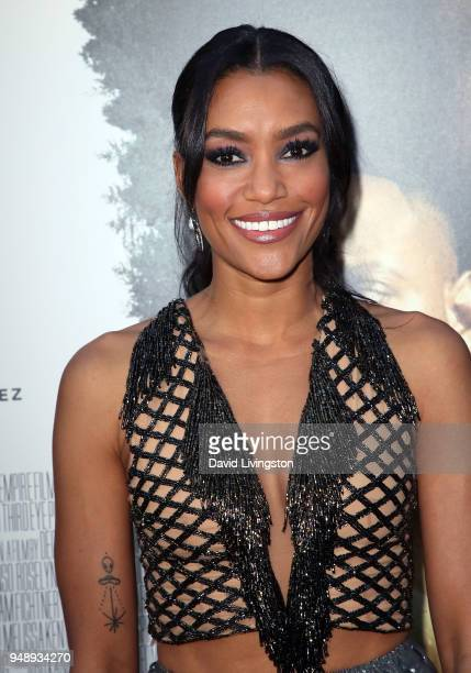 Actress Annie Ilonzeh attends the premiere of Codeblack Films' 'Traffik' at ArcLight Hollywood on April 19 2018 in Hollywood California