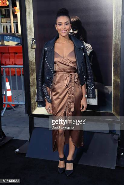Actress Annie Ilonzeh attends the premiere of New Line Cinema's 'Annabelle Creation' at TCL Chinese Theatre on August 7 2017 in Hollywood California