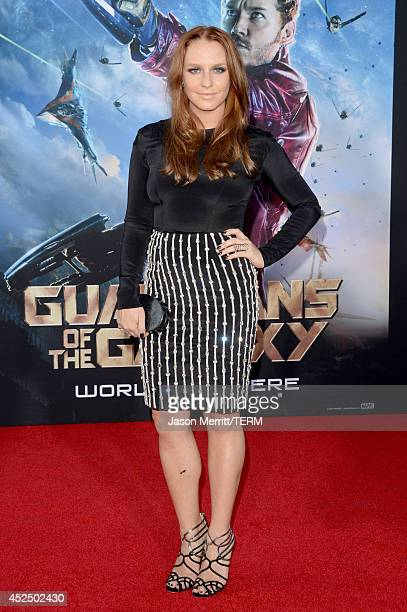 Actress Annie Maude Starke attends the premiere of Marvel's Guardians Of The Galaxy at the Dolby Theatre on July 21 2014 in Hollywood California