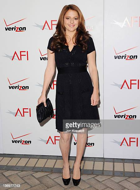 Actress Annie Mumolo arrives at the 2011 AFI Awards Luncheon at Four Seasons Hotel Los Angeles at Beverly Hills on January 13 2012 in Beverly Hills...